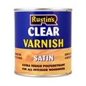 Изображение Rustins Clear Satin Varnish 500 мл